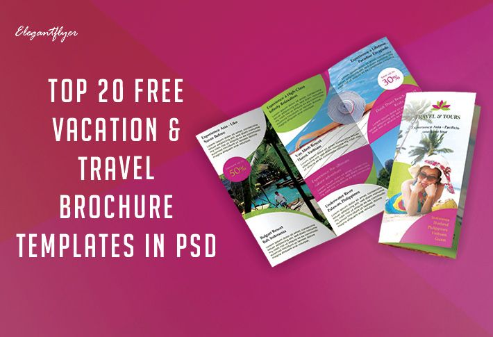 Top 20+ Free Vacation  Travel Brochure Templates In PSD Travel