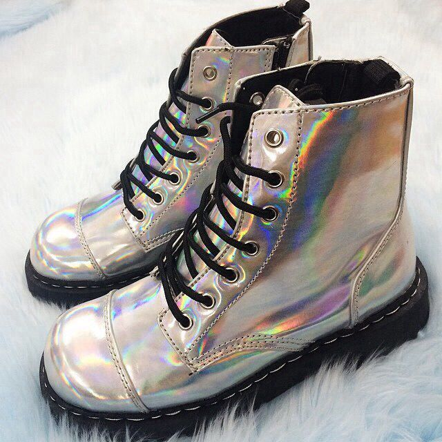 discount innovative design authentic quality Holographic Doc Martens in 2019 | Dr martens boots, Boots ...