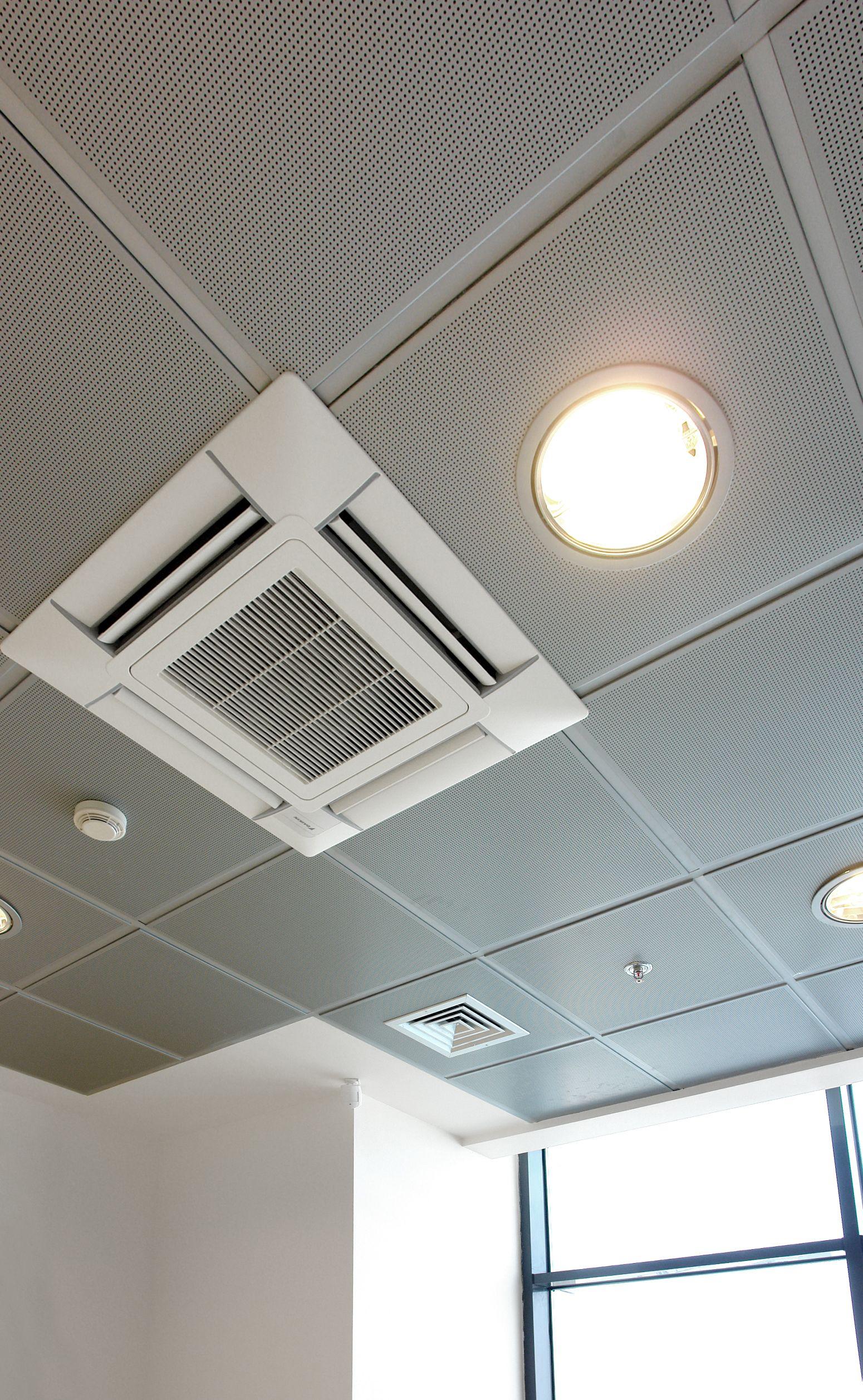 Metallic perforated false ceilings air conditioning interior metallic perforated false ceilings air conditioning interior lighting dailygadgetfo Images