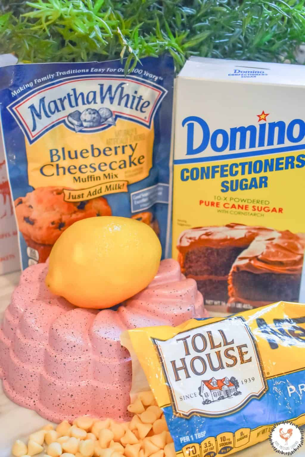 Instant Pot Lemon Blueberry Cheesecake Bundt - Home Pressure Cooking