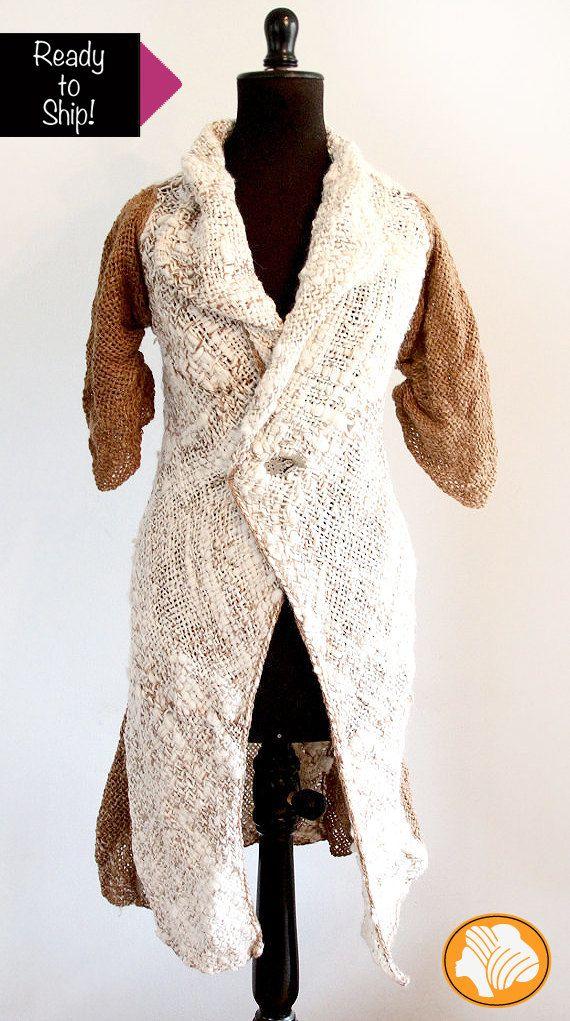 Alpaca rustic brown and cream coat ready to ship | Telargranizo ...