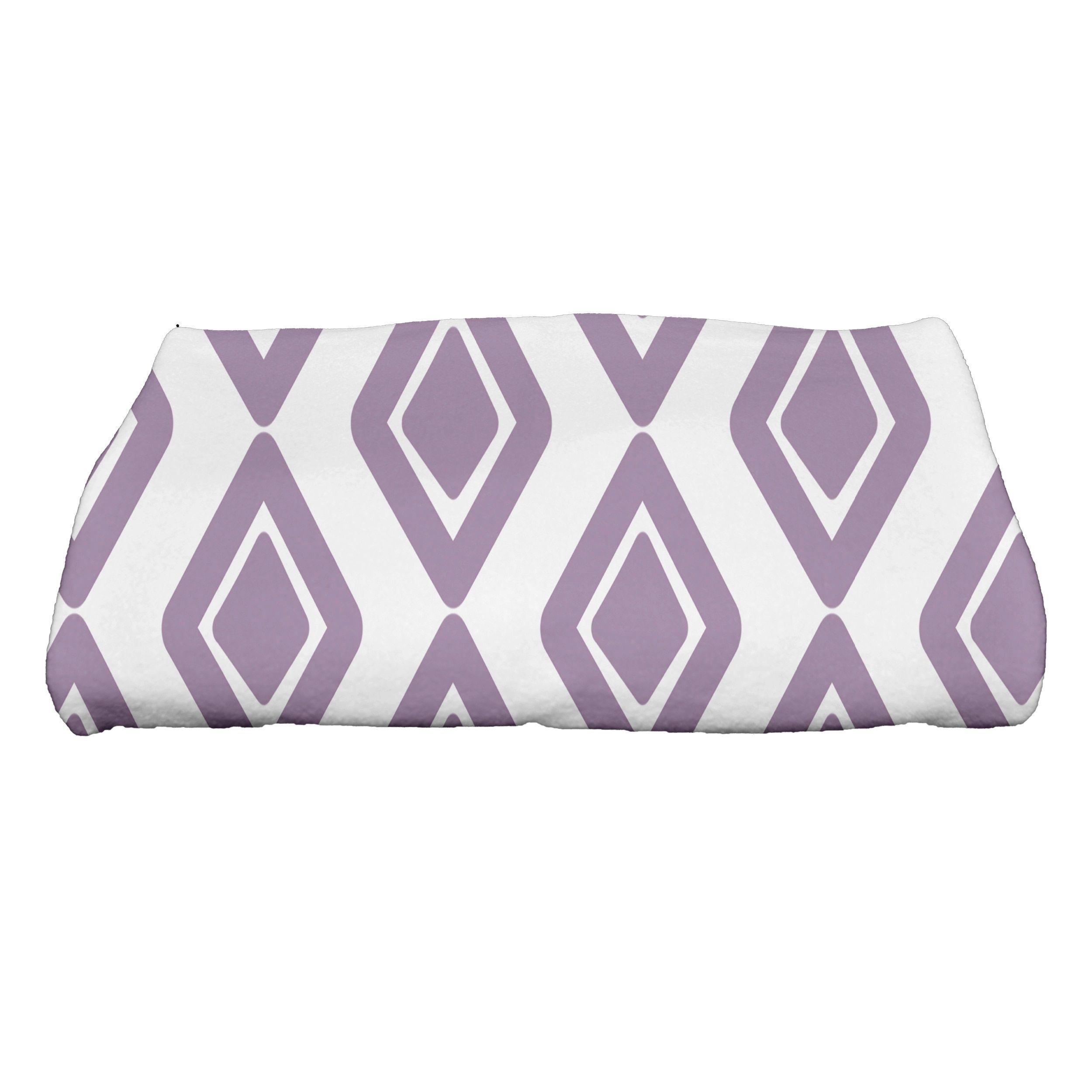 E by Design 28 x 58-inch, Diamond Jive 1, Print Bath Towel