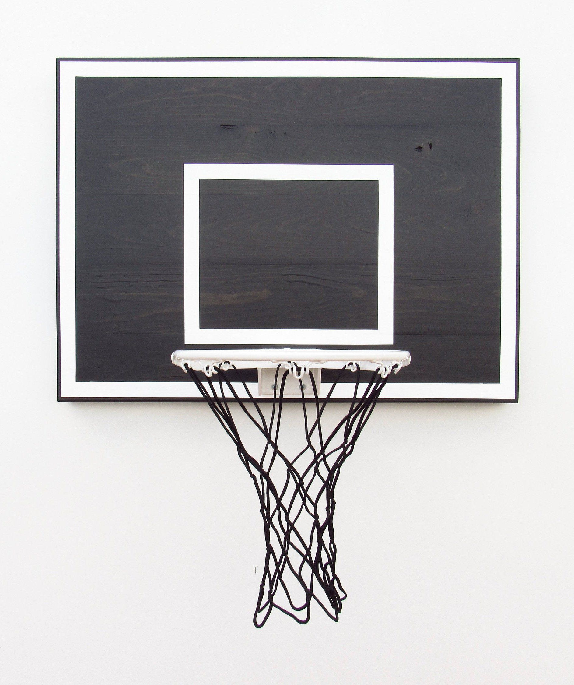 Black Wood Indoor Basketball Hoop With White Rim Indoor Basketball Hoop Basketball Hoop Indoor Basketball