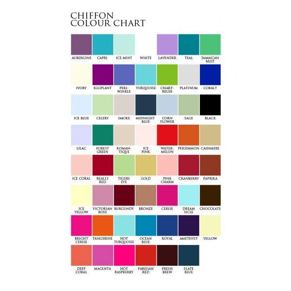 Bridesmaid colour chart also dresses pinterest rh