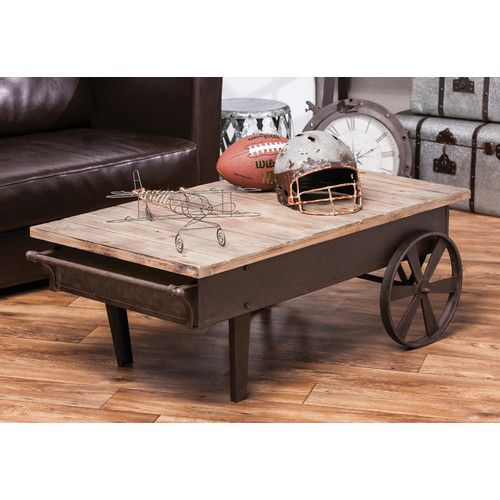Found It At Wayfair Ca Vintage Wood Plank And Metal Coffee Table
