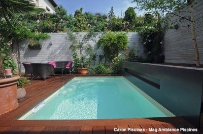 aucun jardin n est trop petit pour une piscine caron piscines piscines pinterest piscine. Black Bedroom Furniture Sets. Home Design Ideas