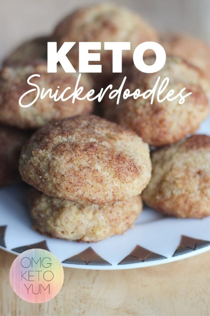 Keto Snickerdoodles | Soft and chewy low carb cookies