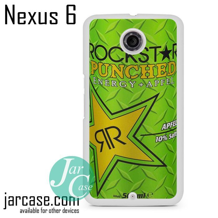 Rockstar Energy Drink Apple Punched Phone case for Nexus 4/5/6