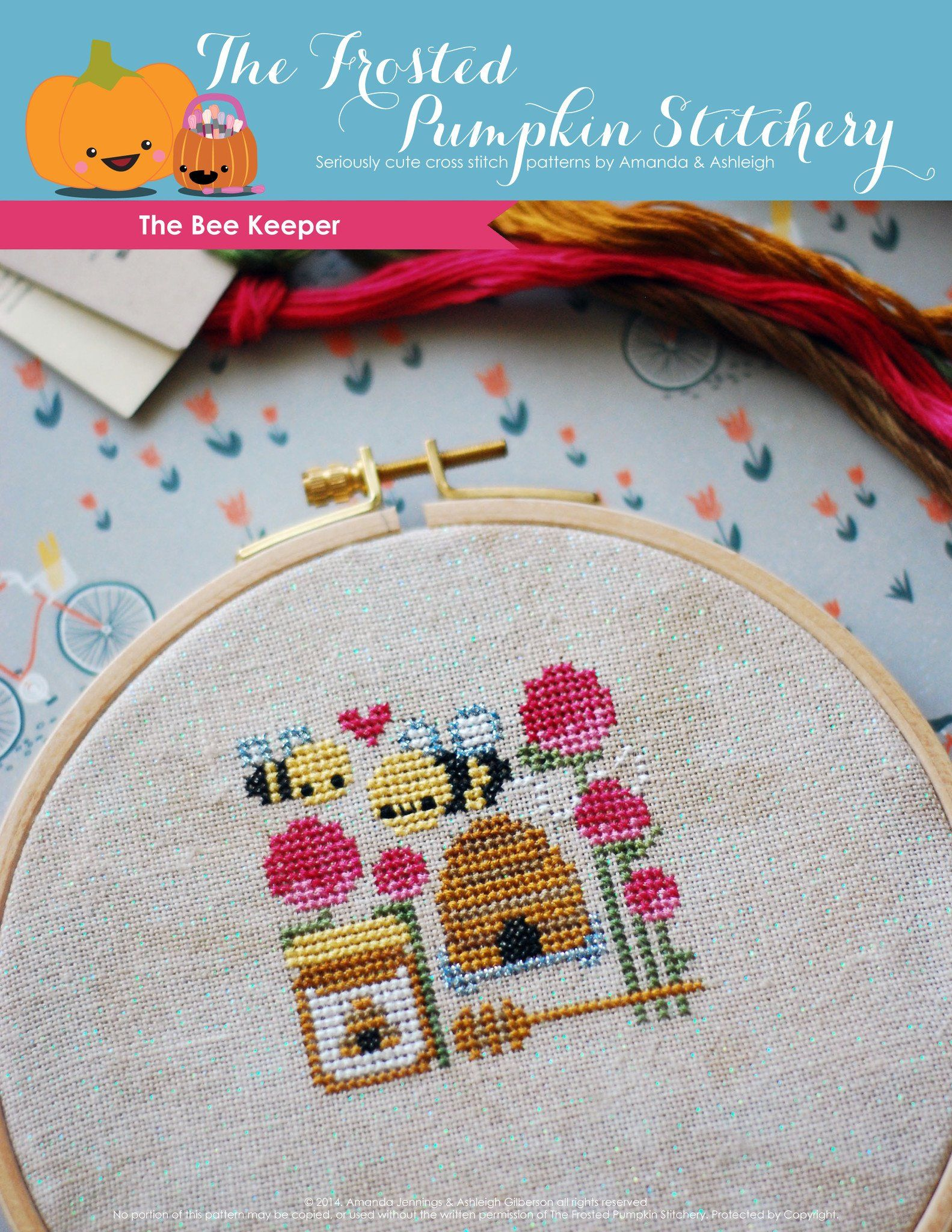 The bee keeper pdf cross stitch pattern in stitches