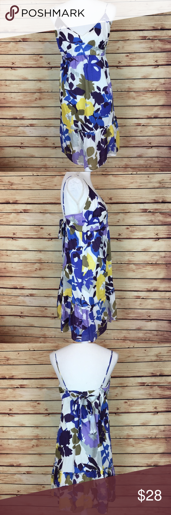 Purple yellow and white floral dress