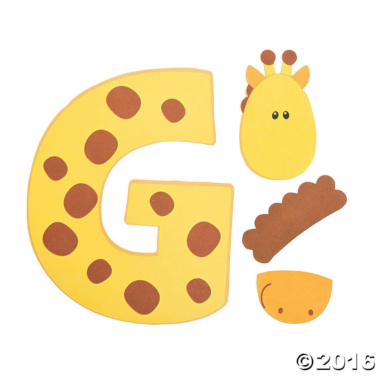 G Is For Giraffes Letter G Craft Kit 48 8068 A01 1500 1500 Letter G Crafts Letter A Crafts Giraffe Crafts [ 1500 x 1500 Pixel ]
