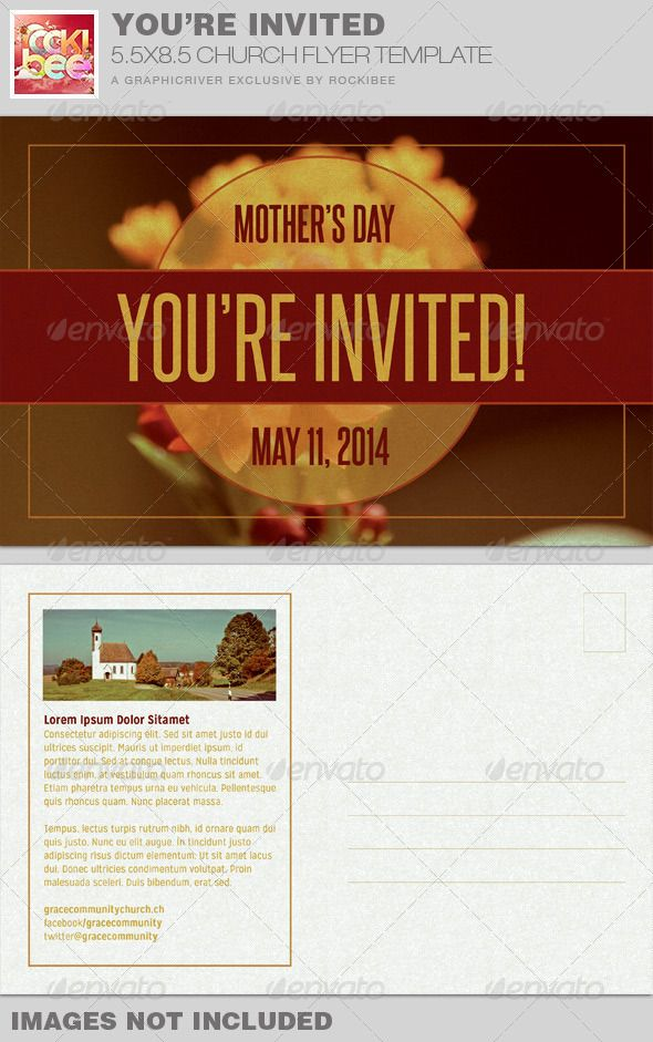 YouRe Invited Church Flyer Invite Template  Template Churches