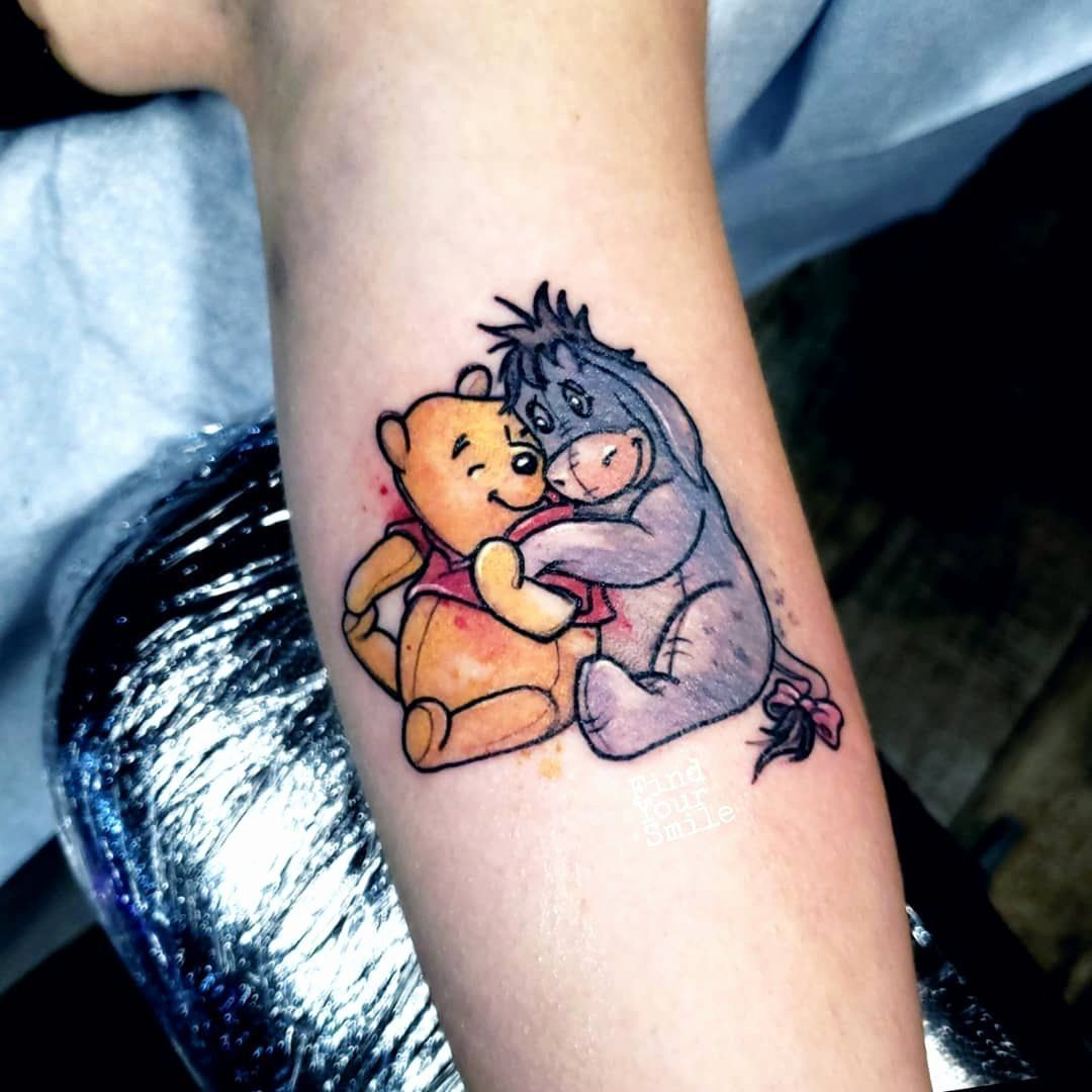 Snaketattoo Watercolortattoo In 2020 With Images Eyore Tattoo Eeyore Tattoo Winnie The Pooh Tattoos