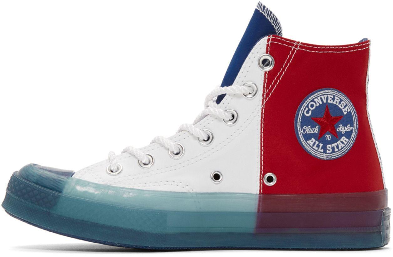 Converse Multicolor Transparent Sole Chuck 70 High Sneakers In 2020 Converse Sneakers Converse Shoes Outfit