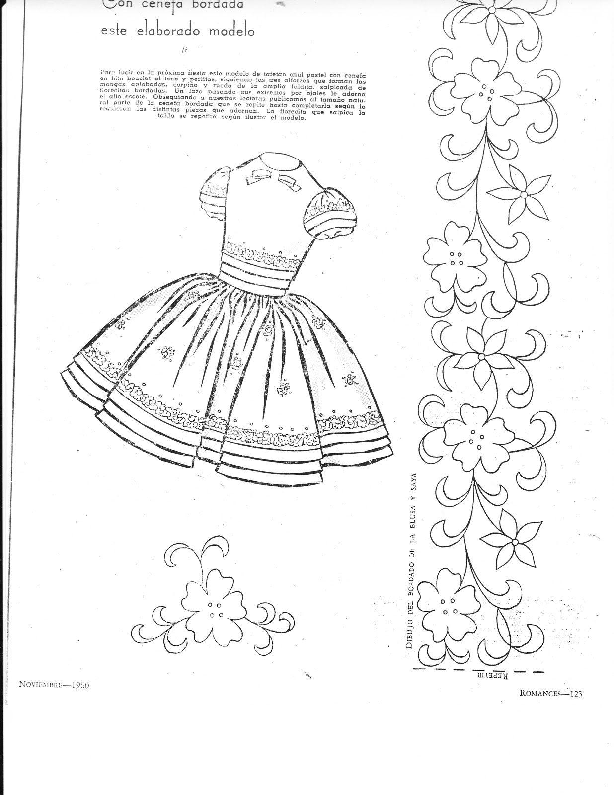 Taller Creativo Artesanal: Bordado y Patrones | vestidos de bebe ...