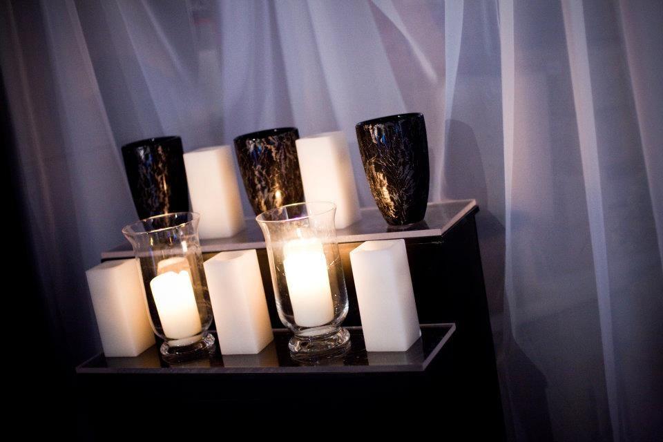 Black Lace Vases, White Ceramic Vases, Glass Urn Candle Holders