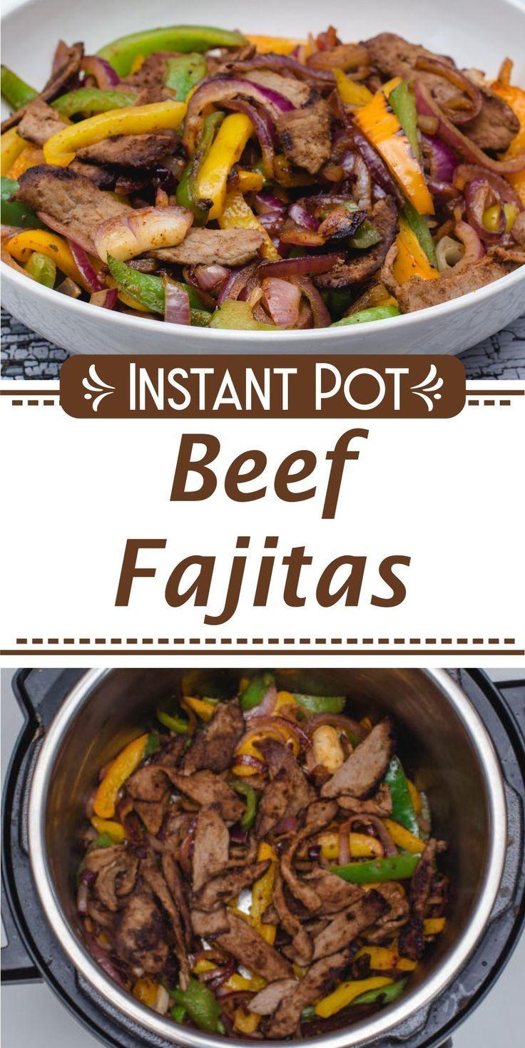 Instant Pot Beef Fajitas - Corrie Cooks #beeffajitarecipe