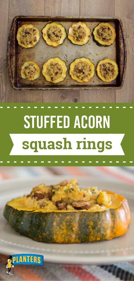 Stuffed Acorn Squash Rings Cornbread Stuffing Mix Flavored With