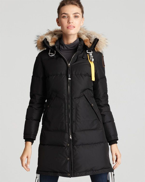 parajumpers long bear coat svart kvinna