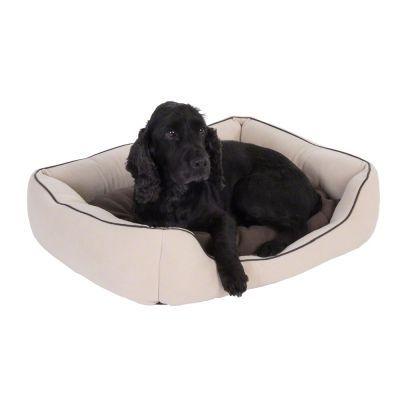 ef81fe1aa6b2 Panier Vanilla pour chien Panier chaud et douillet pour chien, doté d une  housse en polaire, d un coussin réversible bicolore et d une surpiqûre  élégante en ...