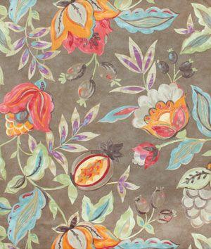 Waverly Modern Poetic Flaxseed Fabric - $21.65 | onlinefabricstore.net #orange #fall #decor