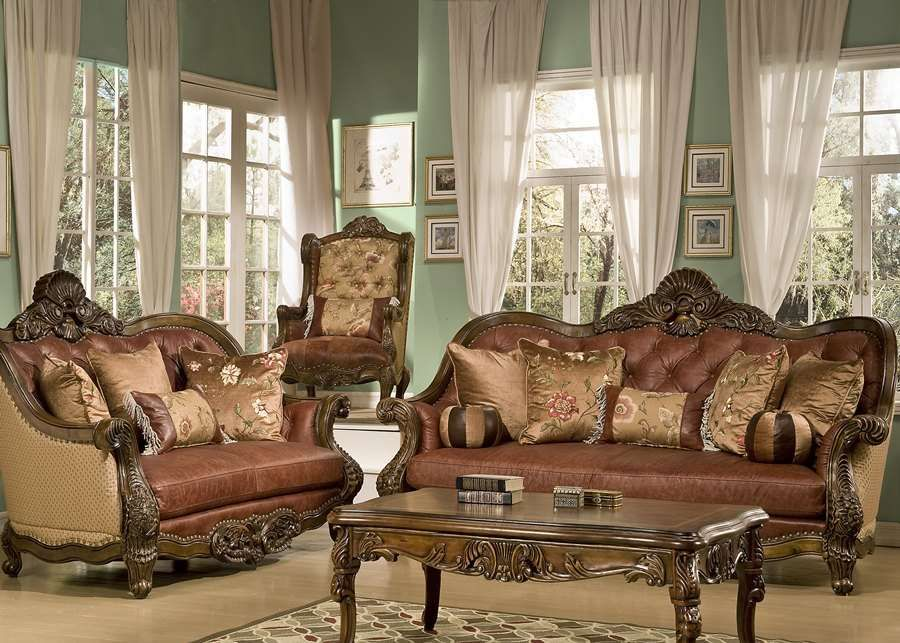 Livingroom - Victorian Living Room Sofa Coffee Table Set Design | an ...