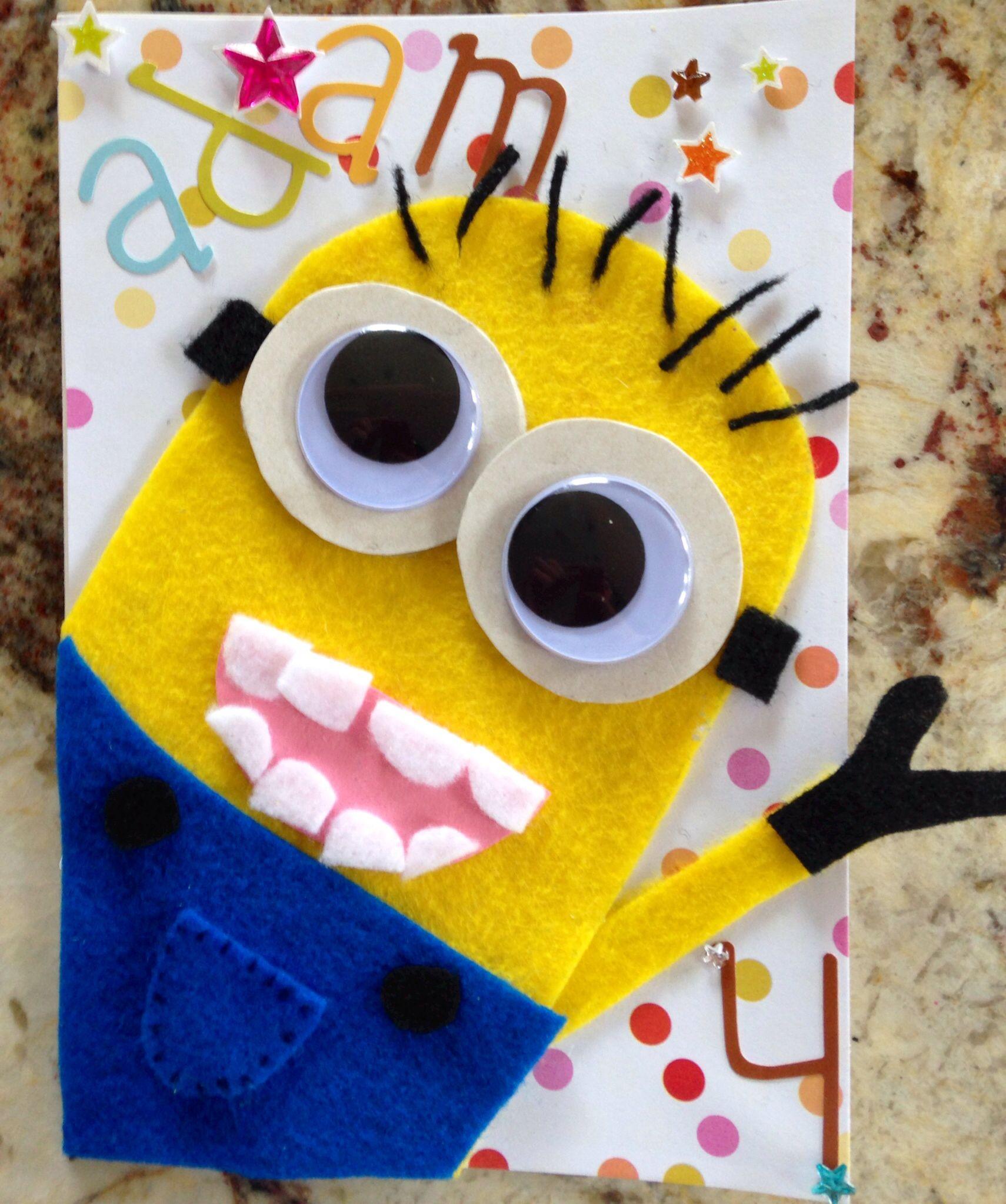 Minion birthday card minion birthday card minion card