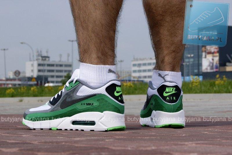 Obuwie Sportowe Bialy Szary Zielony Nike Air Max 90 Br 644204 103 Nike Air Max Nike Nike Air