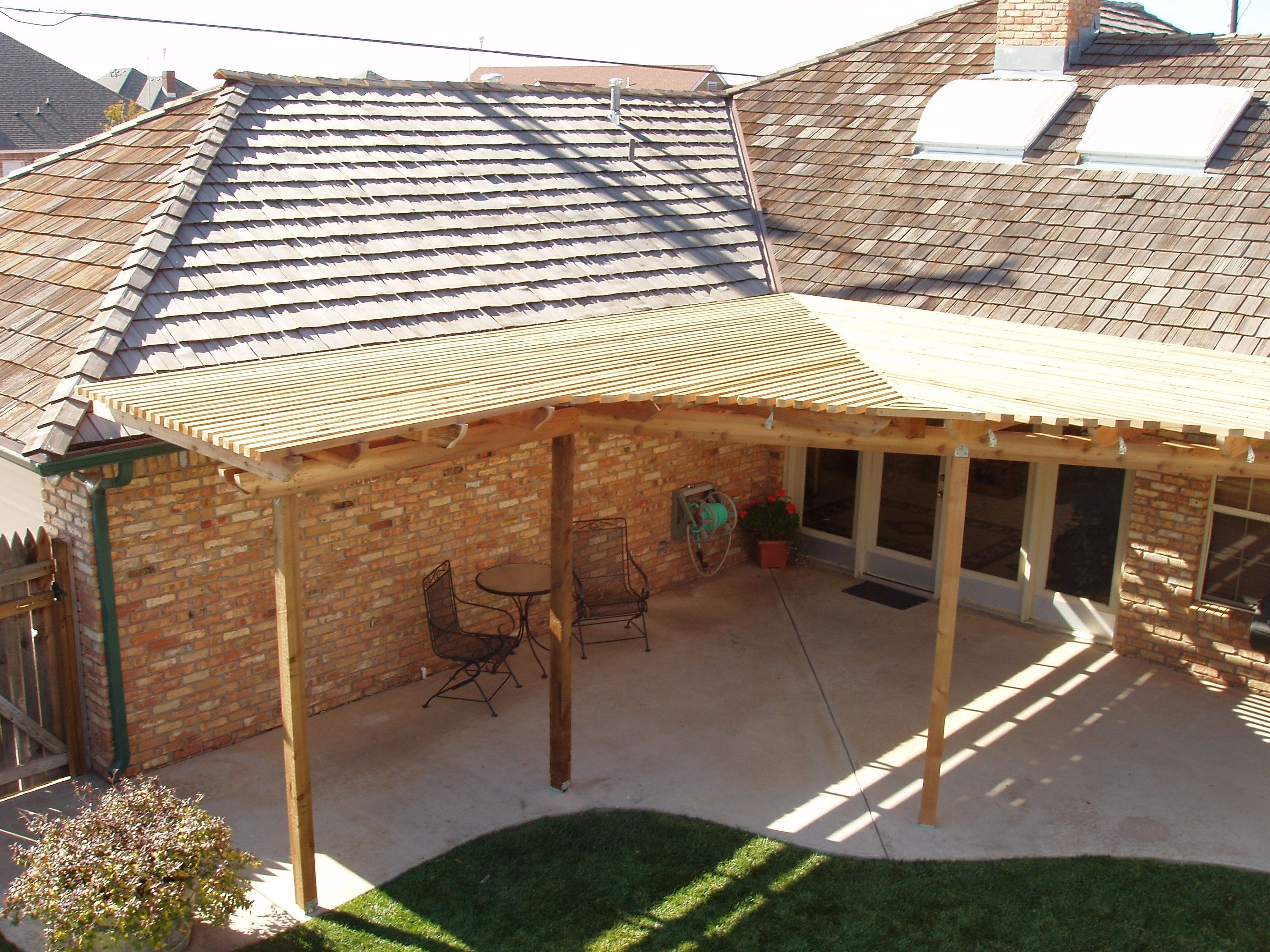 Image result for pergola slanted roof corner
