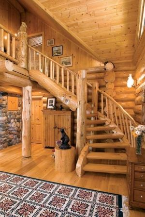 Pin By Brittany On Home Pinterest Staircases Logs And Cabin