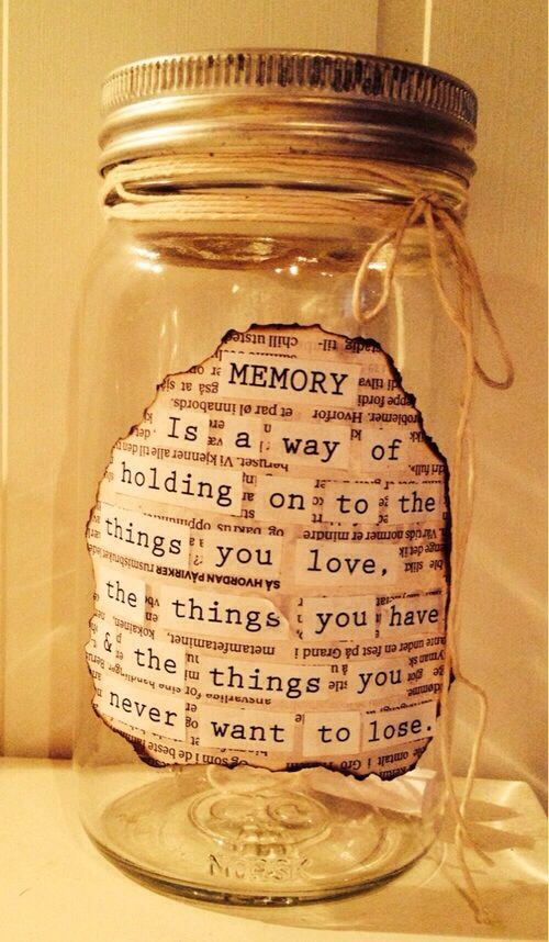 fill a memory jar starting January 1st, open it December ...
