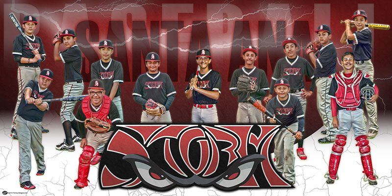 Custom Team Baseball Banner Storm Orange County Frenzy Designs Baseball Banner Team Pictures Baseball Design