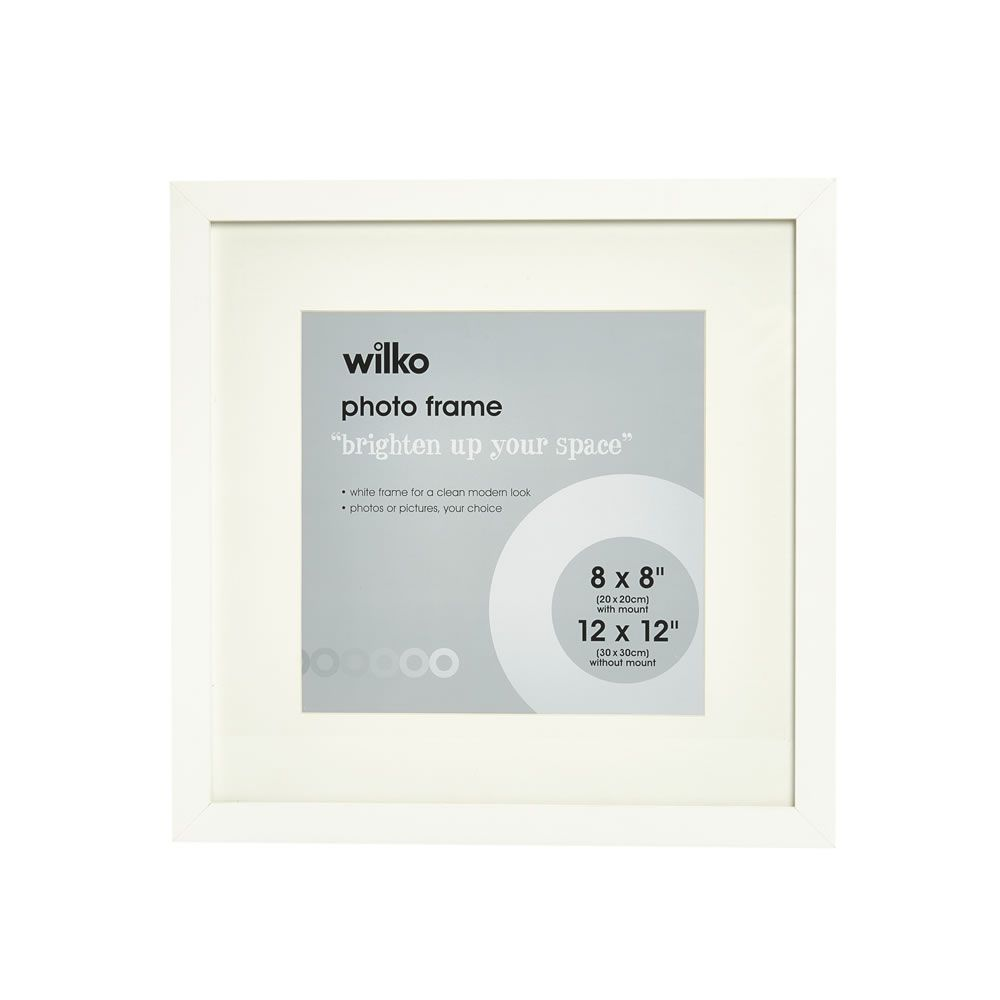 Wilko White Photo Frame 12 X 12in Image 1 White Photo Frames Frame Wilko