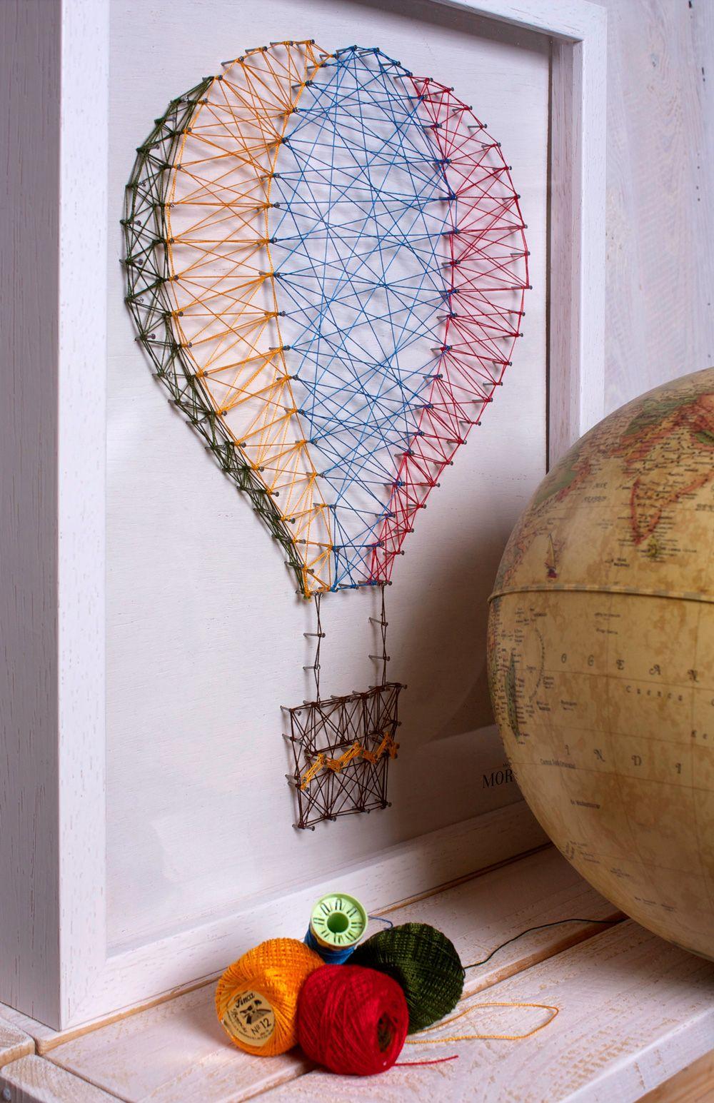 Ideas para hacer cuadros diy con madera, clavos e hilo. Decora las ...