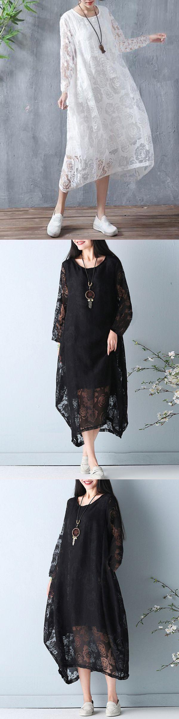 Floral dresses missguided elegant women long sleeve solid color