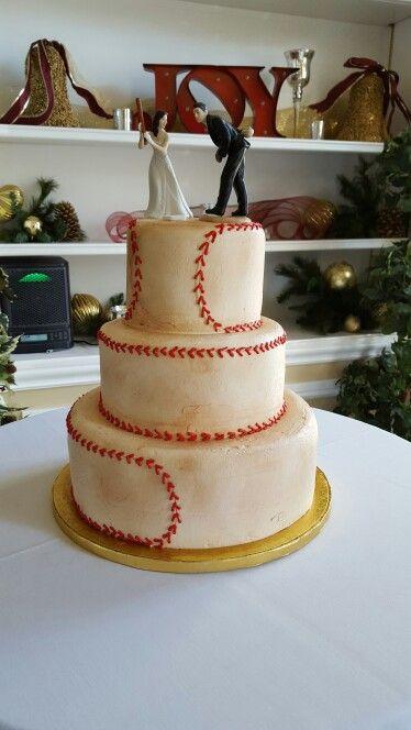 Baseball wedding  Cakes  Baseball wedding cakes Baseball grooms cake Softball wedding