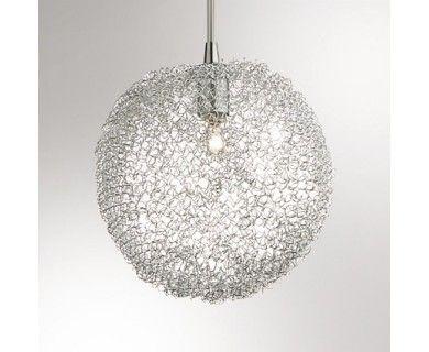Lustre verre plafonnier verre soufflé et fils daluminium cotton big design