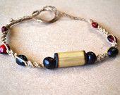 Hemp Seed Necklace/ Hemp Choker/ Hippie Necklace/ Hippie Jewelry/ Hemp Jewelry/ Men's Necklace