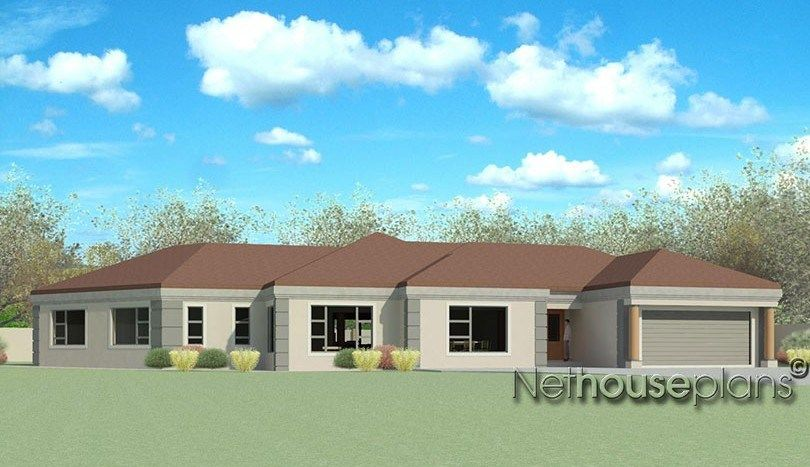 Modern Tuscan Style House Plan 4 Bedroom Single Storey Floor Plans Tuscan House Plans House Plans South Africa Affordable House Plans