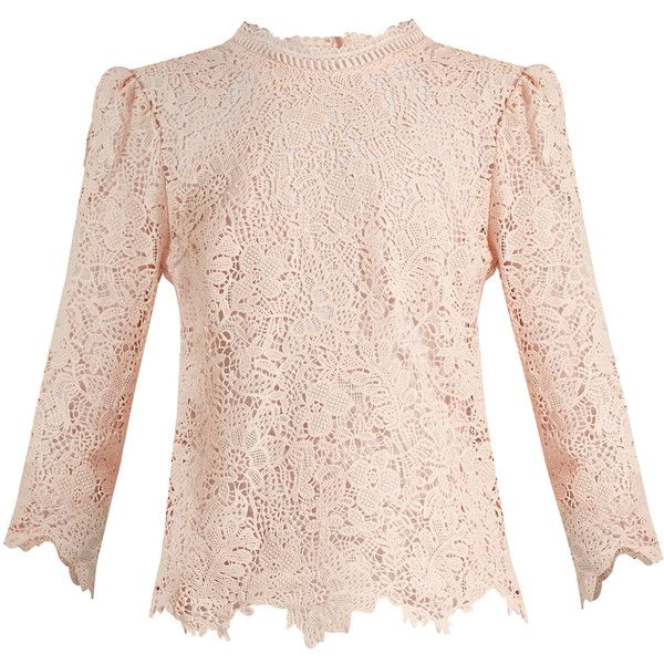 Rebecca Taylor Arella cotton-lace blouse ($395) ❤ liked on ...
