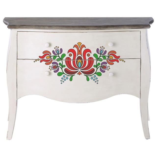 Kalocsai Festett Butor Painted Furniture Paint Furniture Norwegian Rosemaling