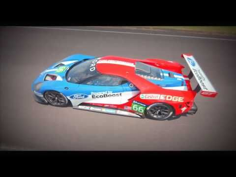 Ford Gt Race Car Le Mans 2016 On Track Modern Ford Gt40 Youtube Ford Gt Super Cars Ford Gt40