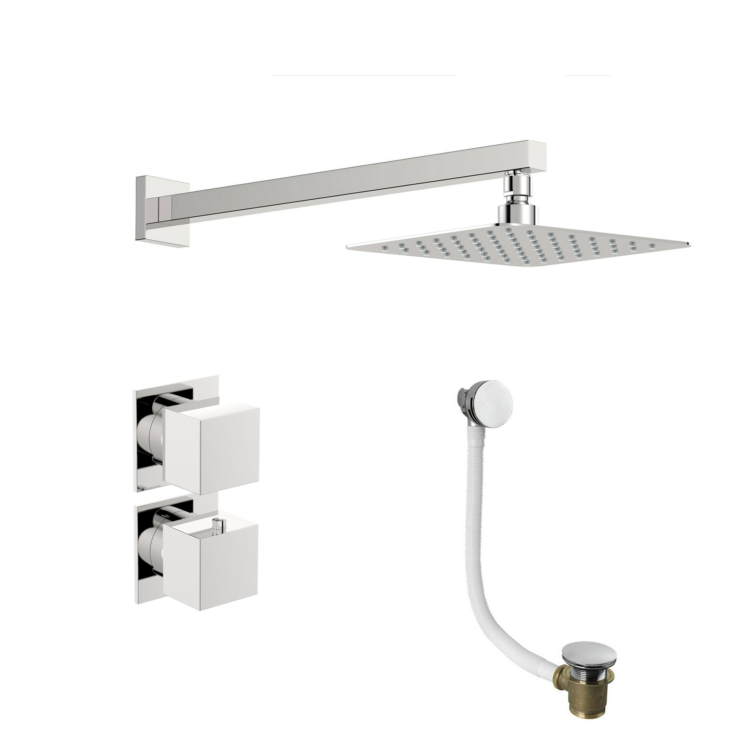 Mode Cooper thermostatic shower valve with wall shower bath set ...