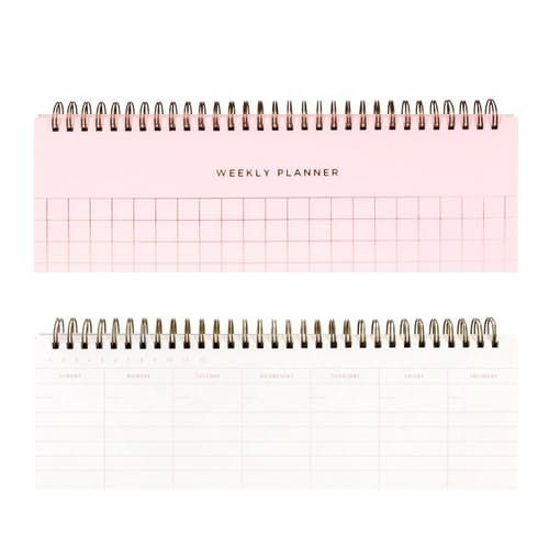 UNDATED WEEKLY PLANNER PINK great gift for her! #woman #women