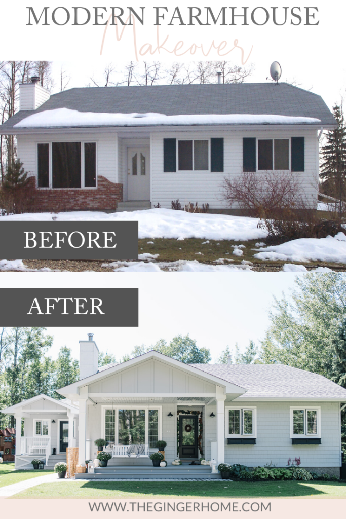 A Modern Farmhouse Style Exterior Makeover - The Ginger Home