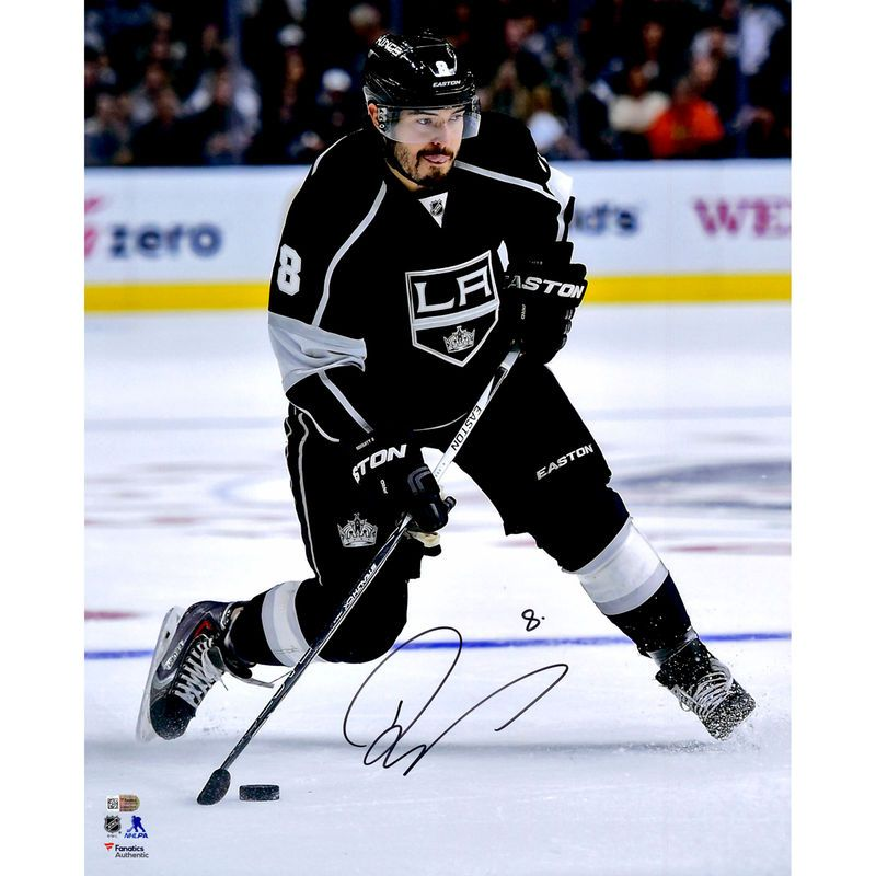 Drew Doughty Los Angeles Kings Fanatics Authentic Autographed 16 X 20 Black Jersey Shooting Photograph Los Angeles Kings La Kings Hockey La Kings
