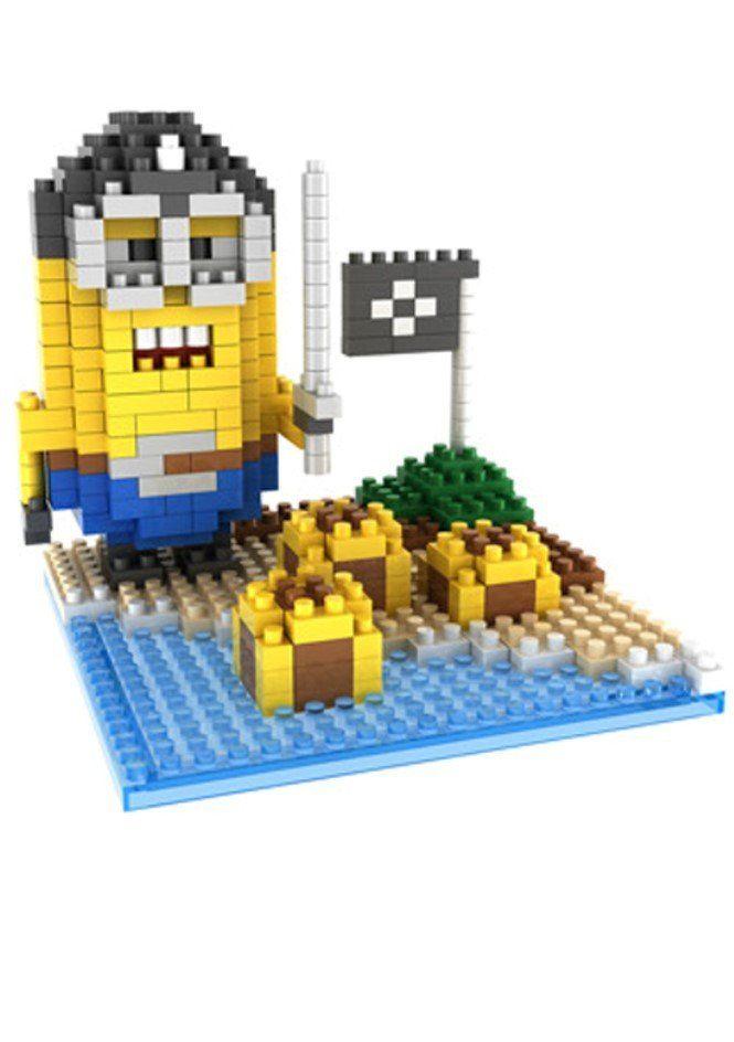 Gem Brick Mini Blocks Minions Pirate