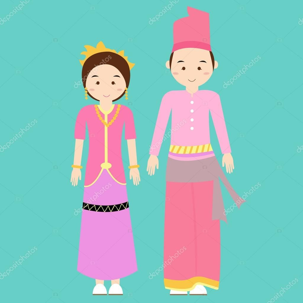 Gambar Kartun Pakaian Adat Bali