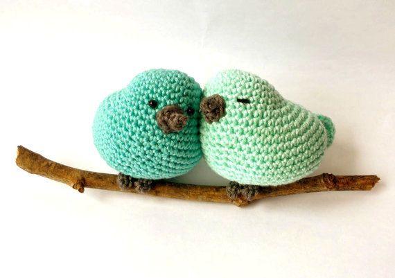Crochet Birds On A Branch Cute