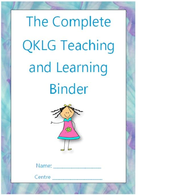 The Complete QKLG Teaching And Learning Binder --- This